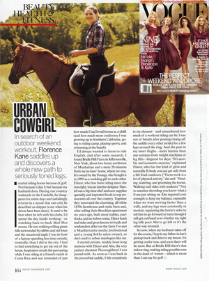 Vogue Nov 2009 Visits Bridle Hill Farm